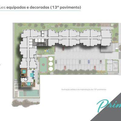 Vivaz Prime Laguna - Implantação 13º pavimento