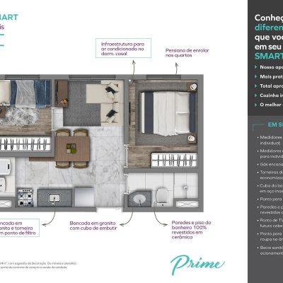 Vivaz Prime Laguna - Planta 34m² Smart
