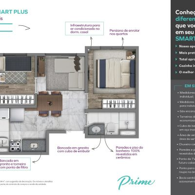 Vivaz Prime Laguna - Planta 34m² Smart plus