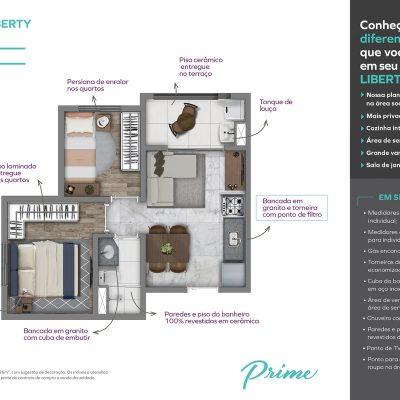 Vivaz Prime Laguna - Planta 36m² liberty 2