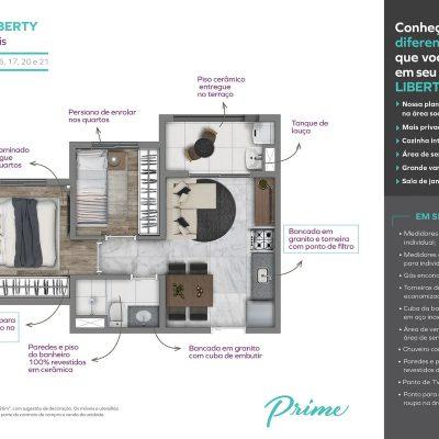 Vivaz Prime Laguna - Planta 36m² liberty 3