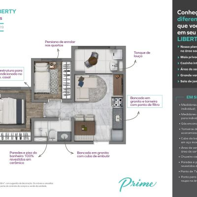 Vivaz Prime Laguna - Planta 36m² liberty